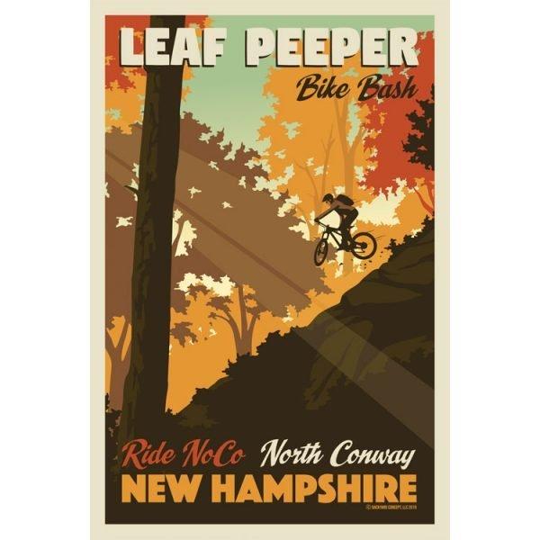 Leaf Peeper NH Biking Poster