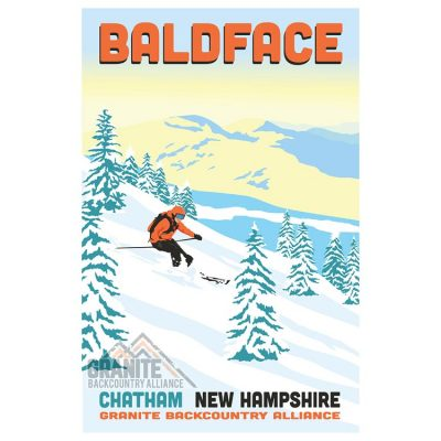 Baldface Ski Poster