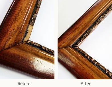 before & after frame restoration