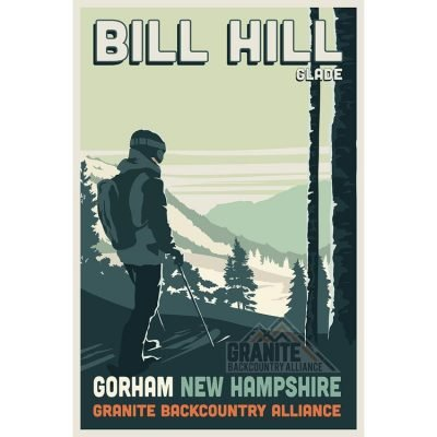 Granite Backcountry Alliance Bill Hill Ski Poster