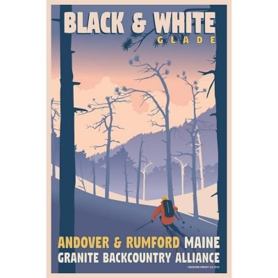 Granite Backcountry Alliance Black & WhiteSki Poster