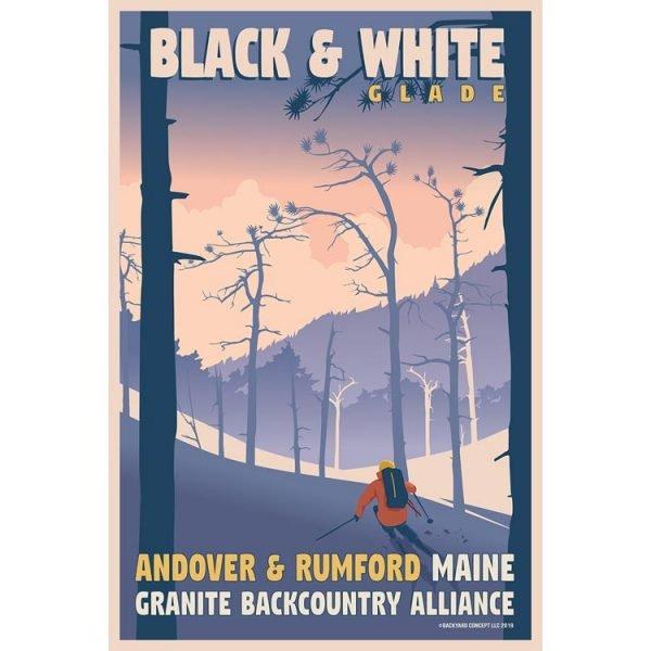 Granite Backcountry Alliance Black & WhiteSki Poster