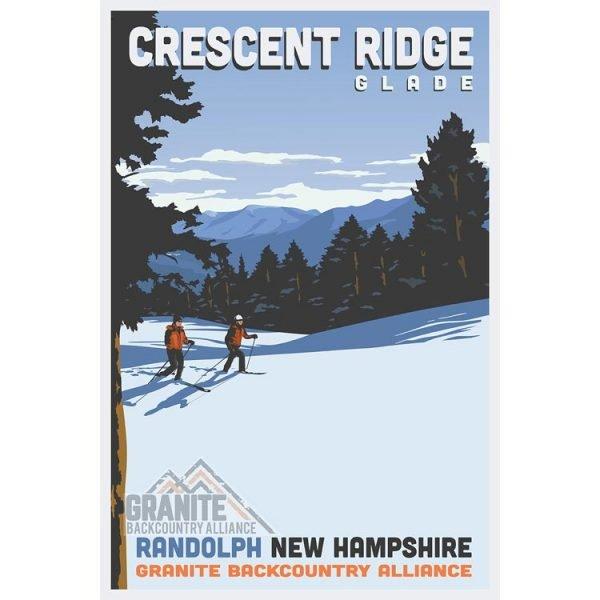 Granite Backcountry Alliance Crescent Ridge Ski Poster