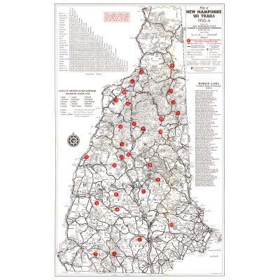 1935-36 Vintage NH Ski Trails map