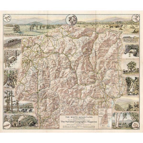 NATIONAL GEOGRAPHIC MAP OF THE WHITE MOUNTAINS