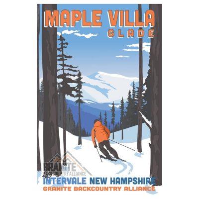 Maple Villa Glade Ski Poster